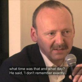 5. How did Dutchbat commander Karremans behave during Srebrenica debriefing
