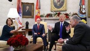 Fierce Debate Trump Pelosi Shumer about Trump wall