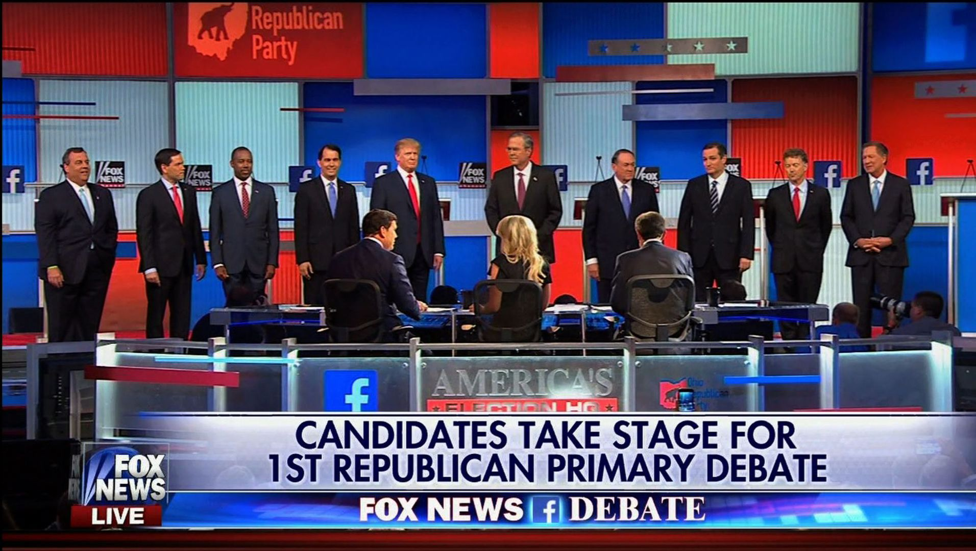 First Republican Primary Debate Candidates