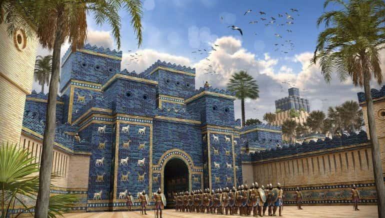 Mesopotamia Walled gate